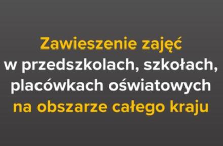Zawieszenie zajęć dydaktyczno – wychowawczych!